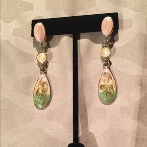 Vintage Enamel Dangle Earrings